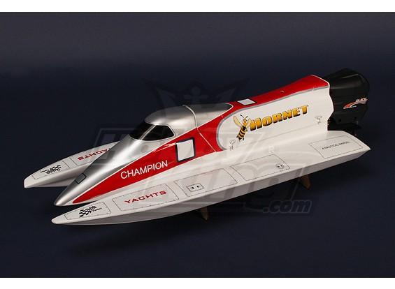 Hornet Formule-1 Tunnel Hull met 540 Buitenboordmotor R / C Racing Boot (750mm)