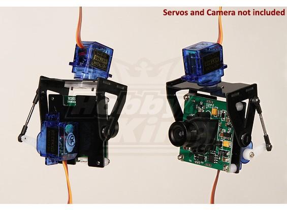FPV Glasvezel Pan-Tilt Camera Mount L-Size