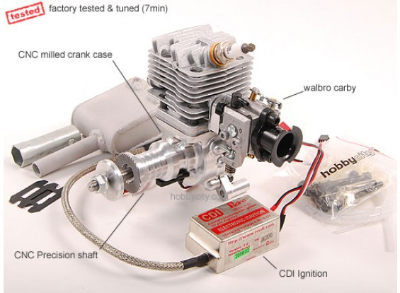26cc Gas engine w / CD-Ignition 1.45PS