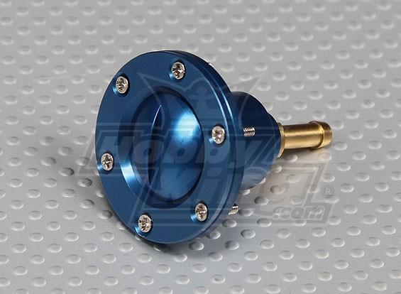CNC Alloy benzinedop Port voor grote schaal gas / turbine modellen (Fuel Dot - Blue)