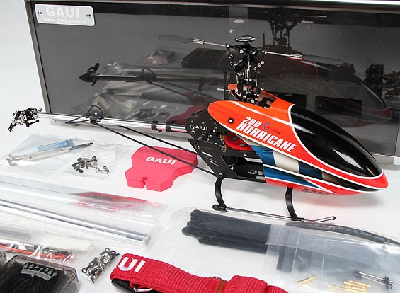 Gaui Hurricane 200 EP 3D Helicopter Deluxe Combo - Rood