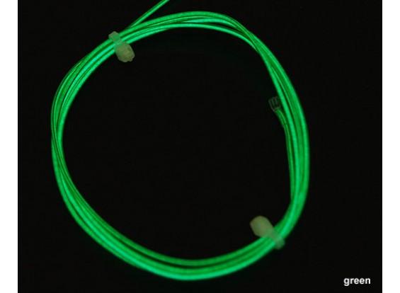 hexTronik Lumifly Glow Wire GREEN 1.2mtr