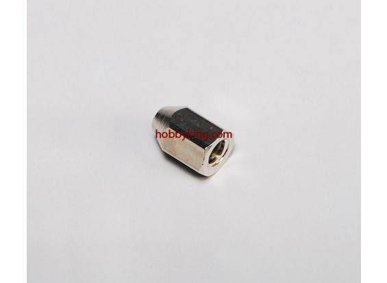 Brass Nut voor spinners M8x1.25-M5 (1 st)