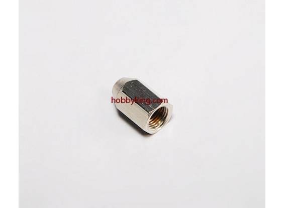 Brass Nut voor spinners M10x1-M5 (1 st)