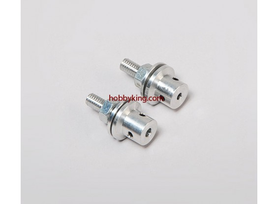 Prop adapter w / Steel Nut M6x4mm as (Grub Screw Type)