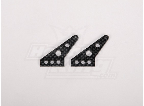 Carbon Fiber Controle Horn 35x24mm (2 stuks / zak)