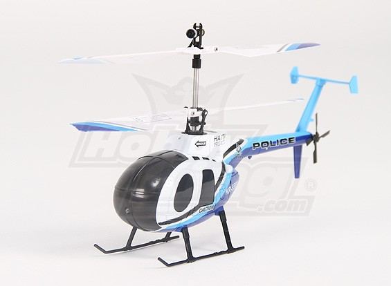 HK189 - 2.4G Schaal Hughes 500 Police Coax Helicopter - M1