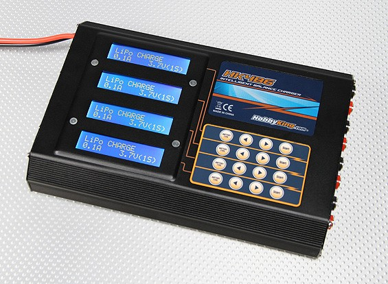 HobbyKing 4B6 Balance Charger Plus Accessoires (200W)