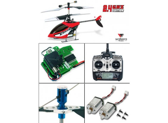 Walkera Lama2-1 coaxiale Heli w / Metal Head & 2.4GHz 2402 Transmitter