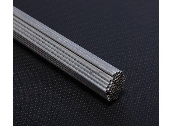 Aluminium buizen D3x * 2x1000mm