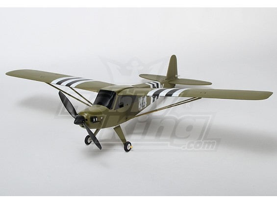 J3 Green Airplane Model w / borstelloze systeem (PNF)