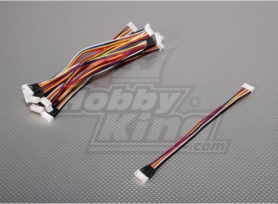 JST-XH 5S Wire Uitbreiding 20cm (10st / bag)
