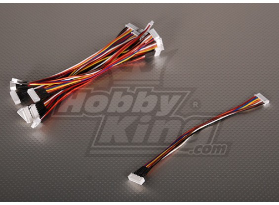 JST-XH Wire Extension 6S 20cm (10st / bag)