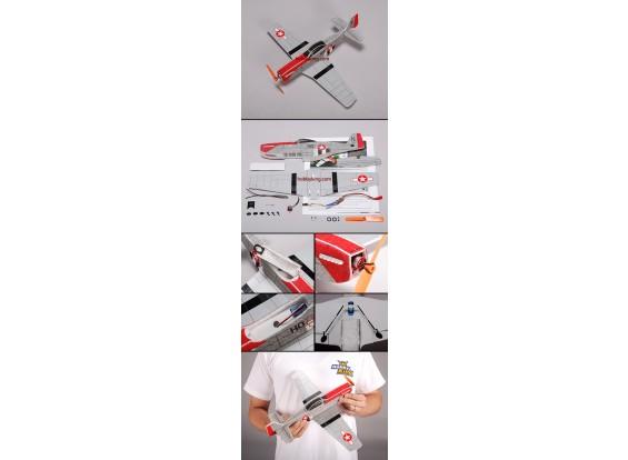 P51 Micro vliegtuig EPP Kit w / Motor & ESC