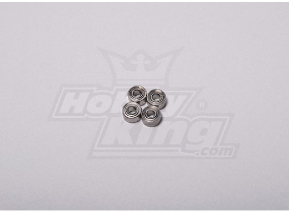 HK-250GT Ball Bearing 5 x 2,5 x 2 mm (4 stuks / set)