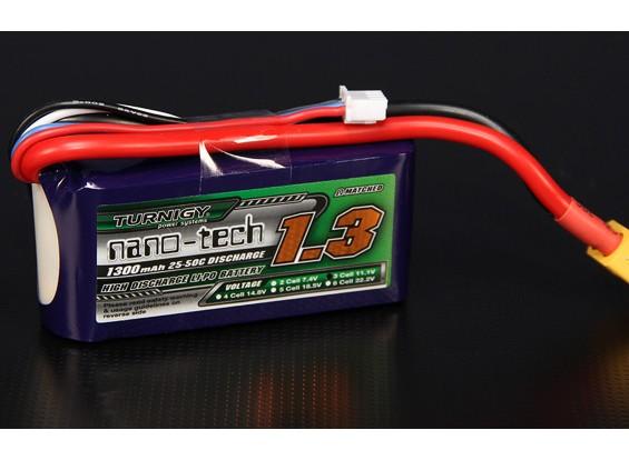 Turnigy nano-tech 1300mAh 3S 25 Pack Lipo ~ 50C