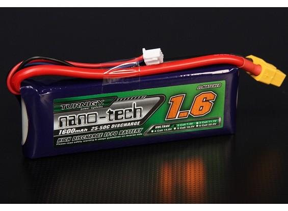 Turnigy nano-tech 1600mAh 2S 25 Pack Lipo ~ 50C