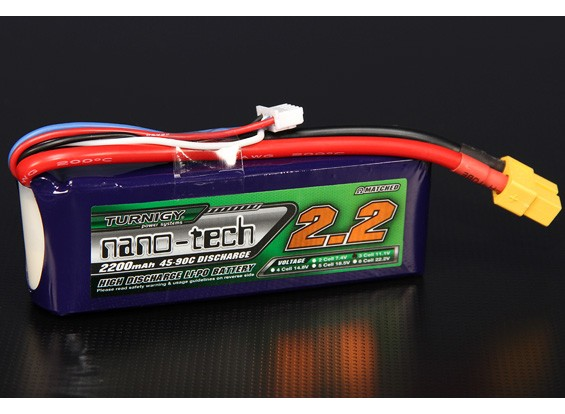 Turnigy nano-tech 2200mAh 3S 45 Pack Lipo ~ 90C