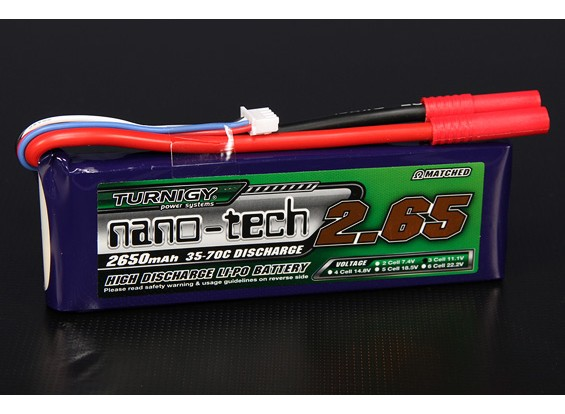 Turnigy nano-tech 2650mah 3S 35 Pack Lipo ~ 70C