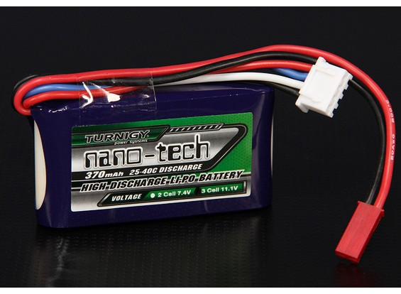 Turnigy nano-tech 370mah 3S 25 Pack Lipo ~ 40C