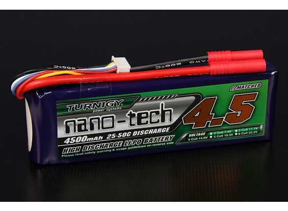 Turnigy nano-tech 4500mAh 4S 25 Pack Lipo ~ 50C
