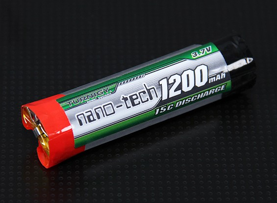 Turnigy nano-tech 1200mAh 1S 15C Round Cell