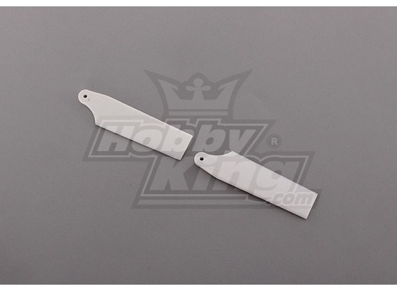 450 Size Heli White Plastic Tail Blade (paar)