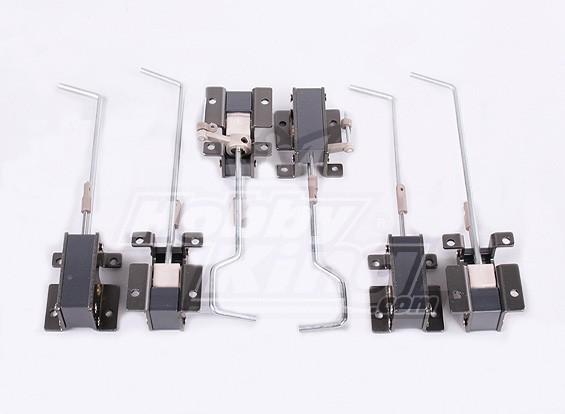 Kunststof en metaal verplaatst over 2 sets (6pc)