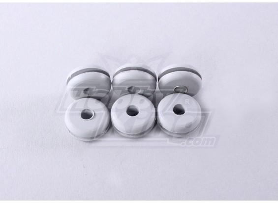 Heli Canopy rubbertule Medium (6pcs / bag)