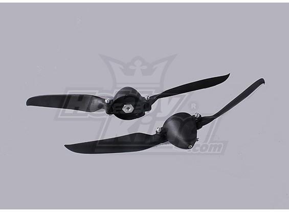 Folding Propeller W / Hub 40mm / 4.0mm Shaft 10x6 (2 stuks)