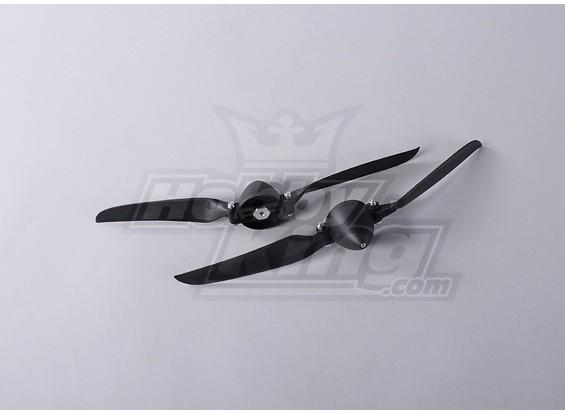 Folding Propeller W / Hub 45mm / 4mm Shaft 11x6 (2 stuks)