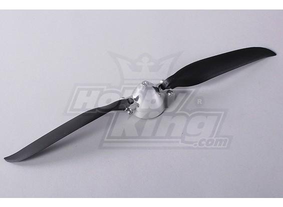 Folding Propeller W / Alloy Hub 45mm / 4mm Shaft 12x7 (1 st)