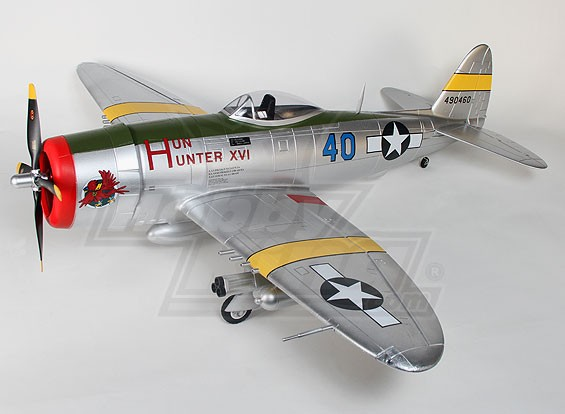 P-47 met flappen, elektrische trekt & lichten, 1600mm (PNF)