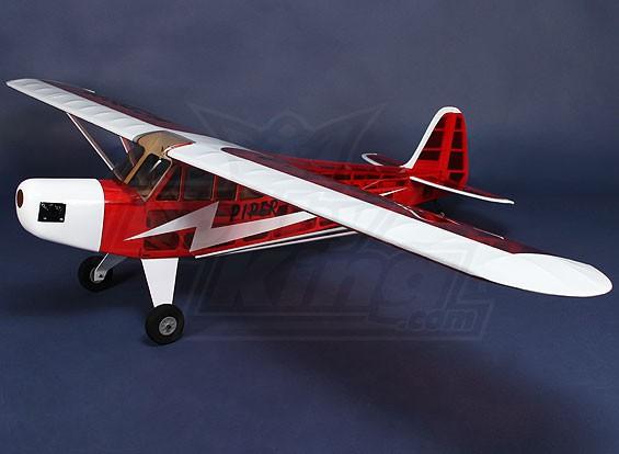 V-Lite J3 Cub 1800mm Glow Rood / Wit (ARF)