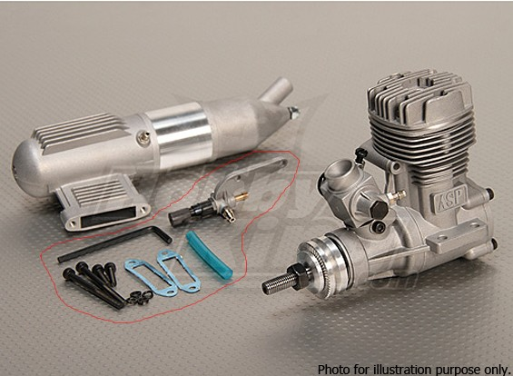 Kras / DENT - ASP S52A Tweetakt Glow Motor w / Remote HS Naaldventiel