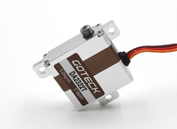 Kras / DENT - Goteck DA2322T Digital MG Metal Cased Wing Servo 23g / 6.4kg / 0.16sec