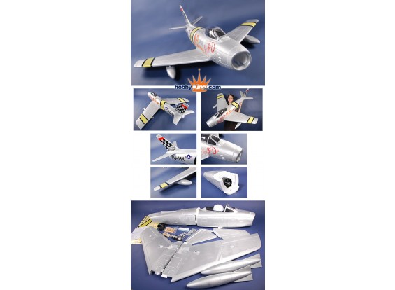 Sabre F-86 Mig Killer 1420mm EPS Foam kit (donkerblauw)