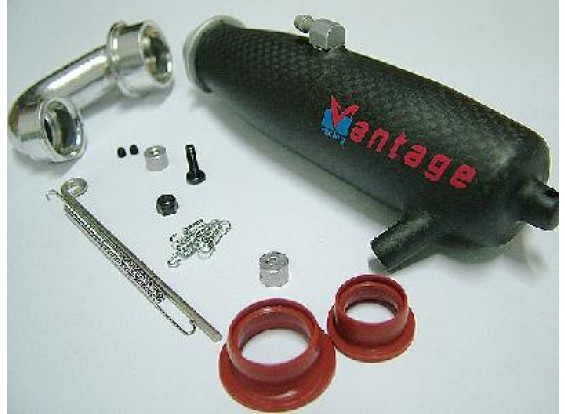 Carbon Fibre Pipe 10/01 FW-05R Rear Ex.