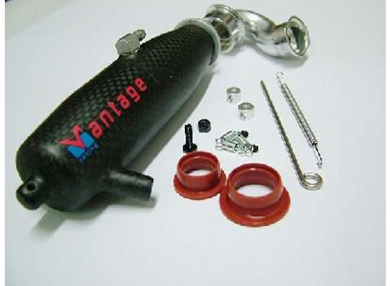 Carbon Fiber Pipe & header voor 1/10 Links Ex.