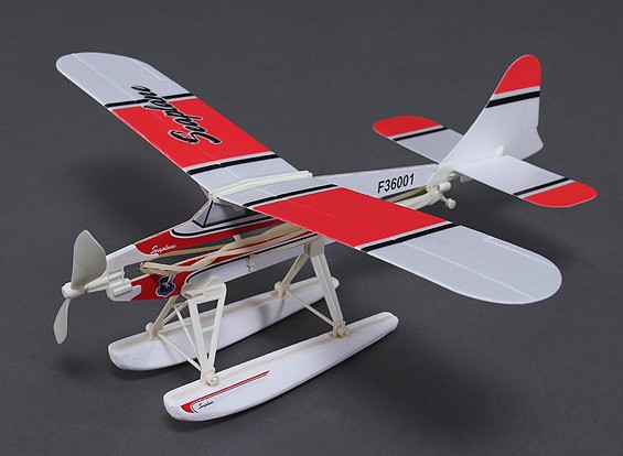 Beaver watervliegtuig Rubber Band Powered Freeflight Model 468mm Span