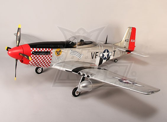 P-51D Shangri La 1600mm EPO w / Electric Zet vrij, kleppen, Lights (PNF)