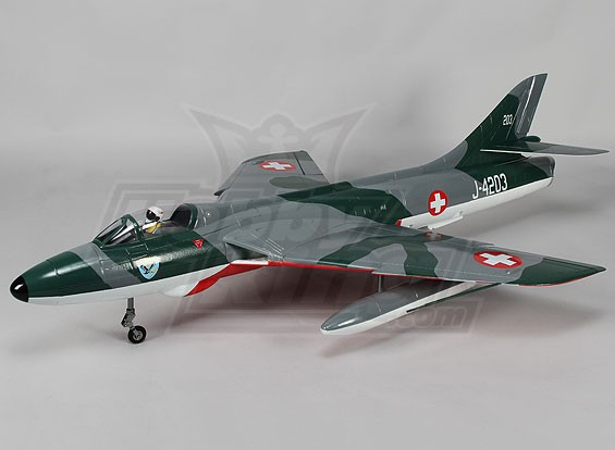 Hawker Hunter 70mm EDF Jet 6s w / Zet vrij & Kleppen SAF (PNF)