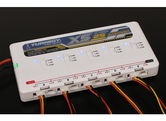 Turnigy X5 2S 5 port Lithium Polymer Battery Charger
