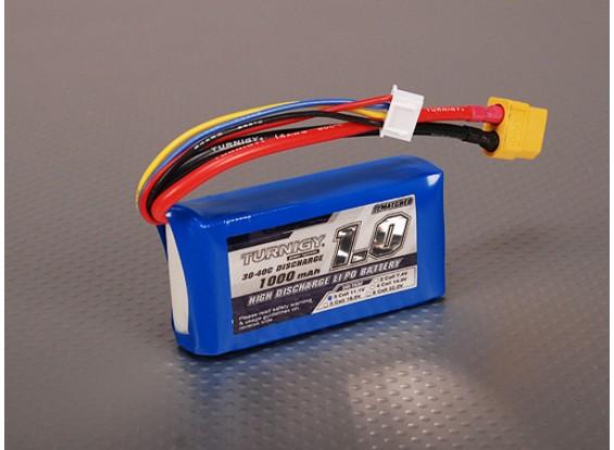 Pack Turnigy 1000mAh 3S 30C Lipo