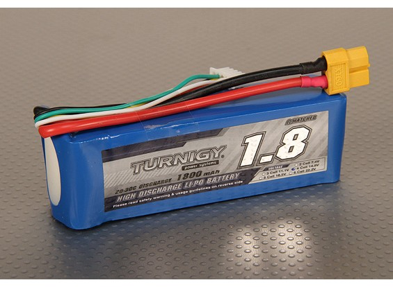 Pack Turnigy 1800mAh 4S 20C Lipo
