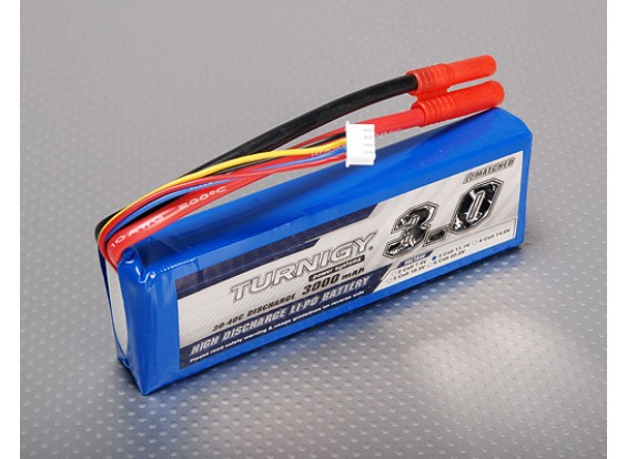 Pack Turnigy 3000mAh 3S 30C Lipo