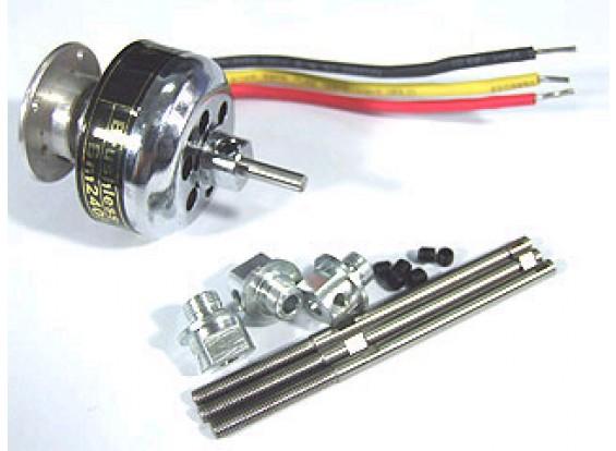TowerPro Motor Shaft w / Moer voor 2408 Motors (3pack)