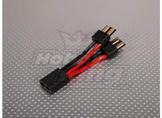 TRX compatibele plug batterij harnas voor 2 packs in Parallel