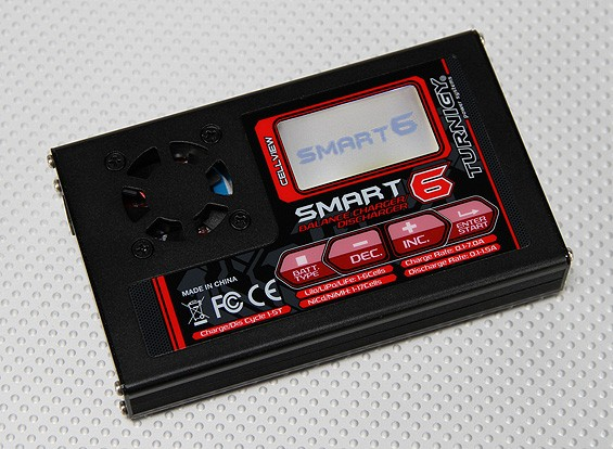 Turnigy Smart6 80w 7A Balance Charger met Graph Screen