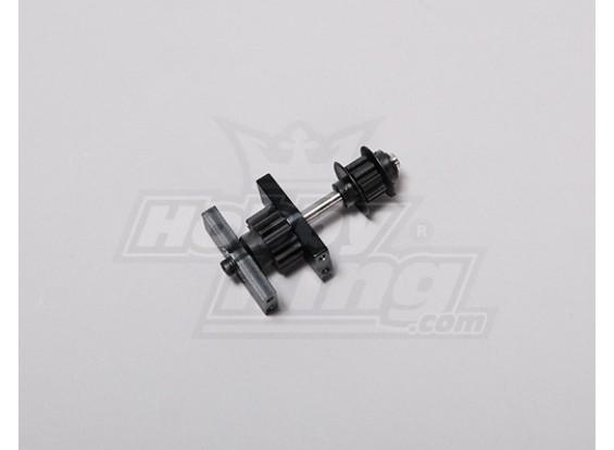 TZ-V2 0,50 Size Tail Drive Spur Gear Assembly